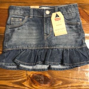 NWT Girls LEVI'S Scooter Skirt Size 6 reg.